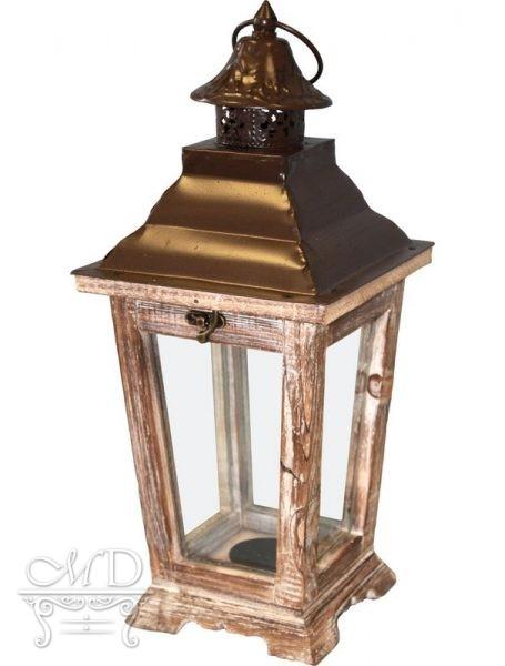 Lampion Drewniany