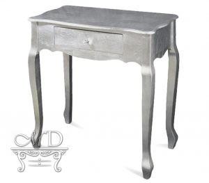 Stolik srebrny art deco