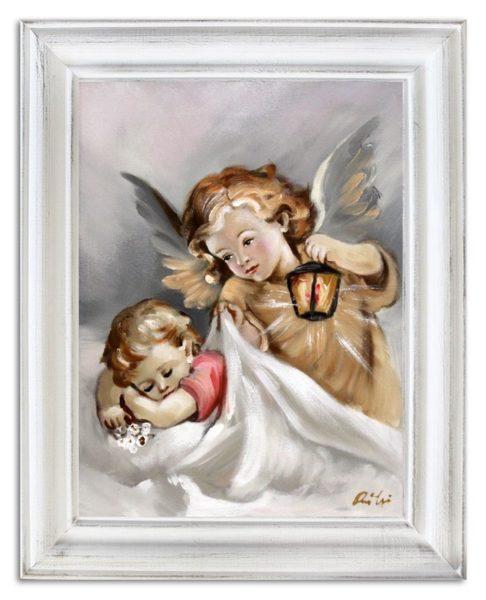 Obraz olejny Anioł Stróż