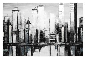 Obraz olejny abstrakcja miasto