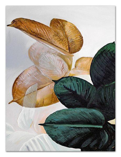 Obraz olejny motyw roślinny