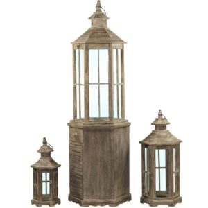 Lampion Drewniany Kpl. 3/S (Iicz)