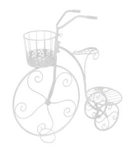 Metalowy kwietnik ogrodowy rower