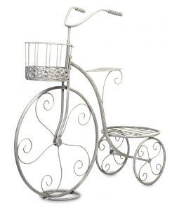 kwietnik rower szary dekoracyjny