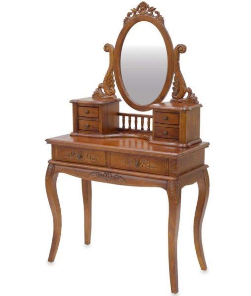 Drewniana rzeźbiona toaletka 114162