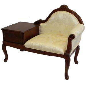 Stylowy fotel ludwikowski z szafką