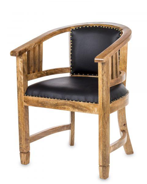 Kolonialne krzesło z drewna mango