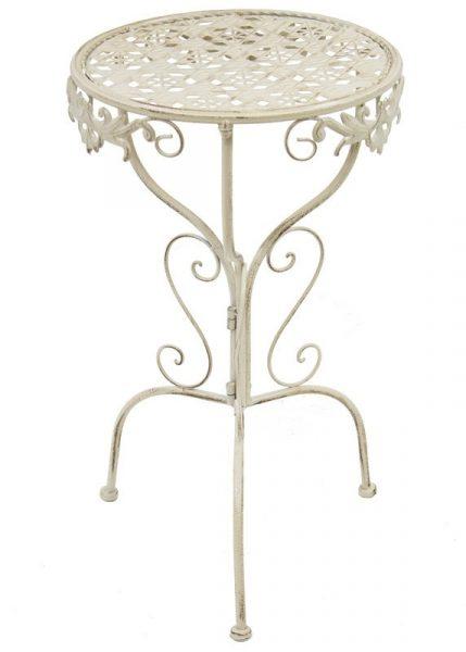 Ogrodowy metalowy stolik dekoracyjny